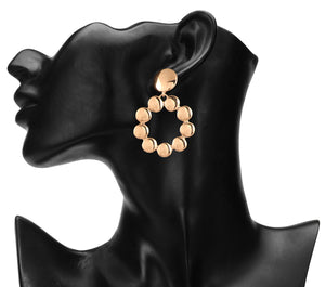 CIRCULAR GLOSSY GOLD EARRINGS