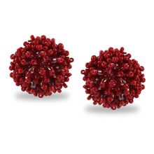 Load image into Gallery viewer, SET OF 3 STUDS BURGUNDY
