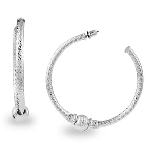 CLASSIC SILVER HOOPS TWISTED WITH A DIFFERENCE