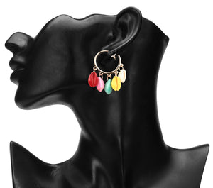 MULTICOLOR EXOTIC KAUDI CASUAL HOOPS