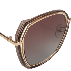 SMOKE BROWN SUNGLASS WITH UV400