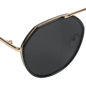 BLACK AVIATOR SUNGLASS UV400