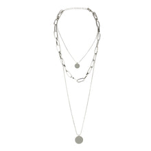 Load image into Gallery viewer, 3 LAYER SILVER CHARM NECKLACE
