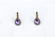 Load image into Gallery viewer, Purple Drop Earrings