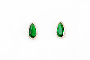 Emerald Green Drop Studs