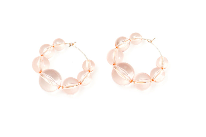 Pink Bubble Hoop Earrings