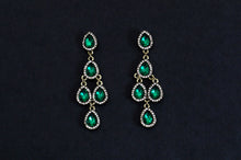 Load image into Gallery viewer, Green Chandelier Earrings