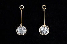 Load image into Gallery viewer, Gold on Future Crystal Dangle Earrings