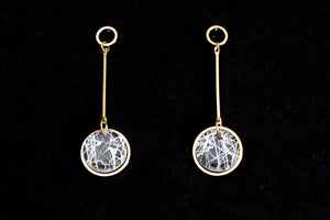 Gold on Future Crystal Dangle Earrings
