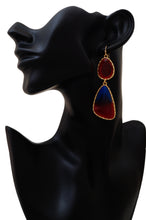 Load image into Gallery viewer, Red & Blue Infusion Dangler Earrings