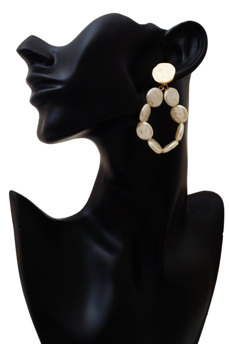 Statement Flat Pearl Earrings