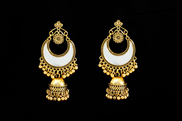 Half Moon Indi Mirror Big Jhumka