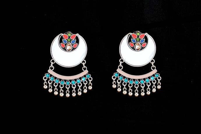 Turkish Half Mirror Jhumka