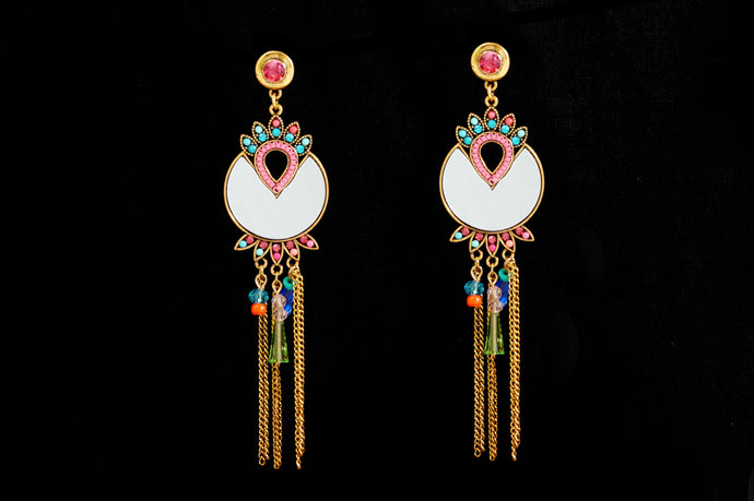 Turkish Mirror Crown Statement Earrings