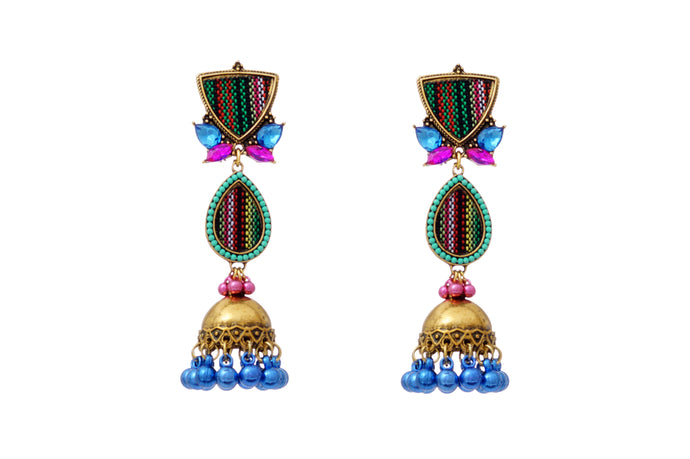 Multicoloured Turkish Designer Jhumka