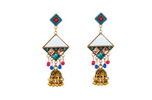 Load image into Gallery viewer, Turkish Colourful Kite Shaped Jhumka