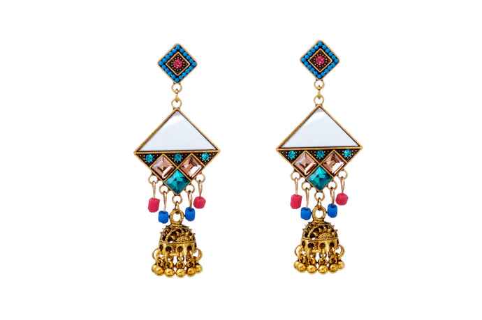 Turkish Colourful Kite Shaped Jhumka