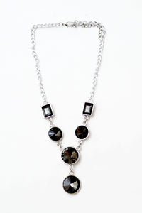 Black Crystal Necklace