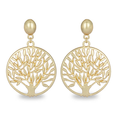 TREE OF LIFE GOLDEN EARRING