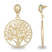 Load image into Gallery viewer, TREE OF LIFE GOLDEN EARRING