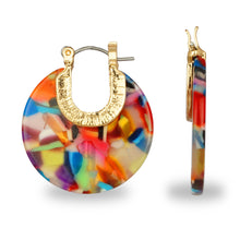 Load image into Gallery viewer, MULTI COLORED RESIN HOOP