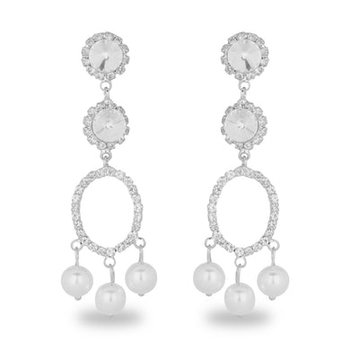 ELEGANT PEARL DROP LONG EARRING
