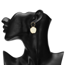 Load image into Gallery viewer, BLACK AND WHITE ENAMEL EARRING