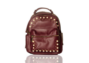 Pearly Vibes Backpack- Burgundy