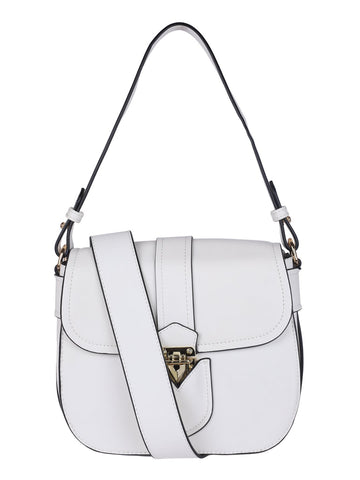 Gold Motif Handbag-White