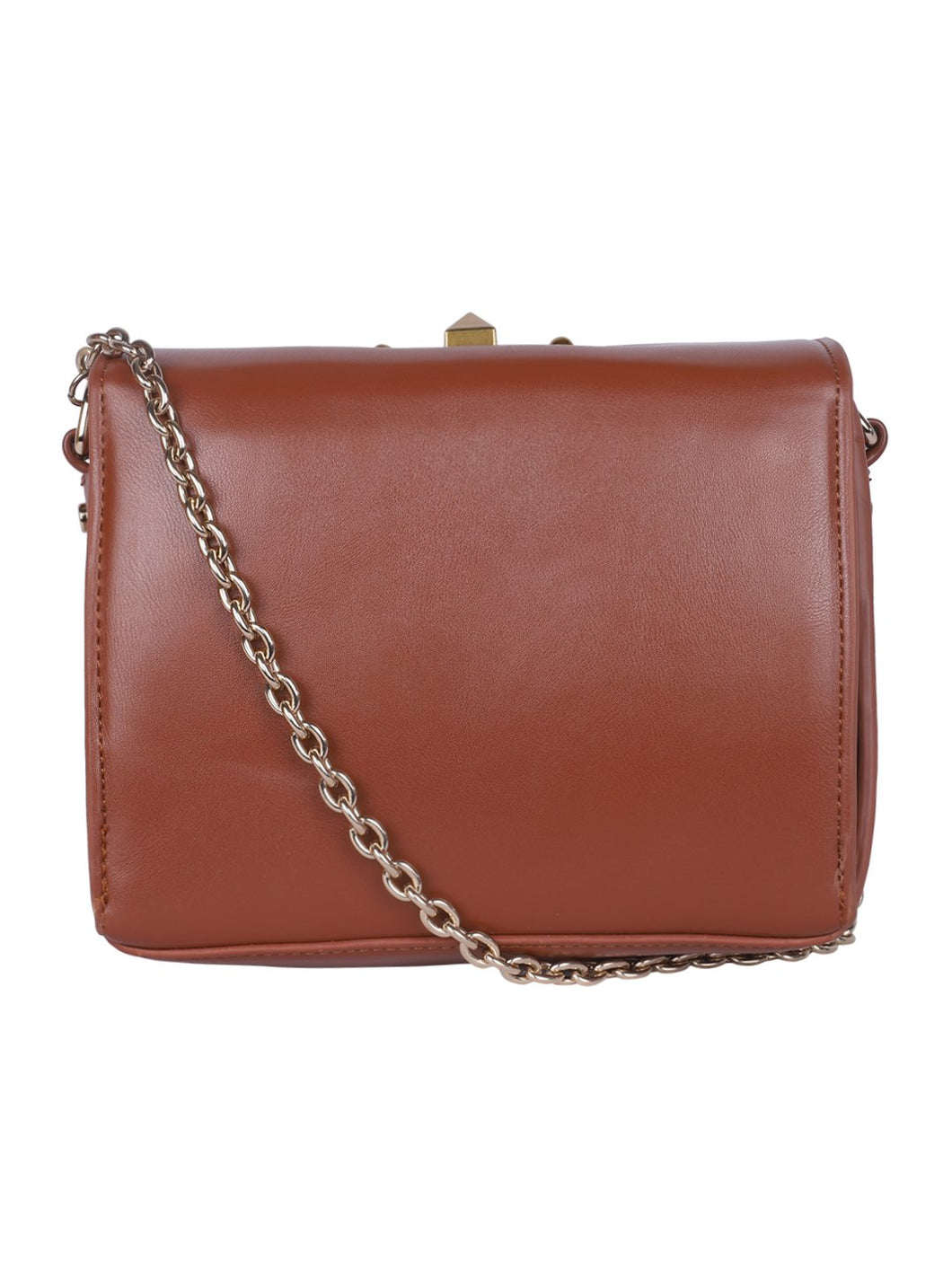 Classic Sling with Gold Clasp - Brown