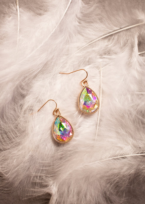 Multicolour Crystal Drop Earrings