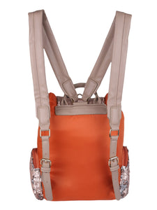 Orange Sequinned Backpack