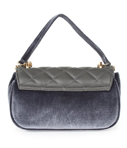 Pearl Detail Quilted Sling-Grey