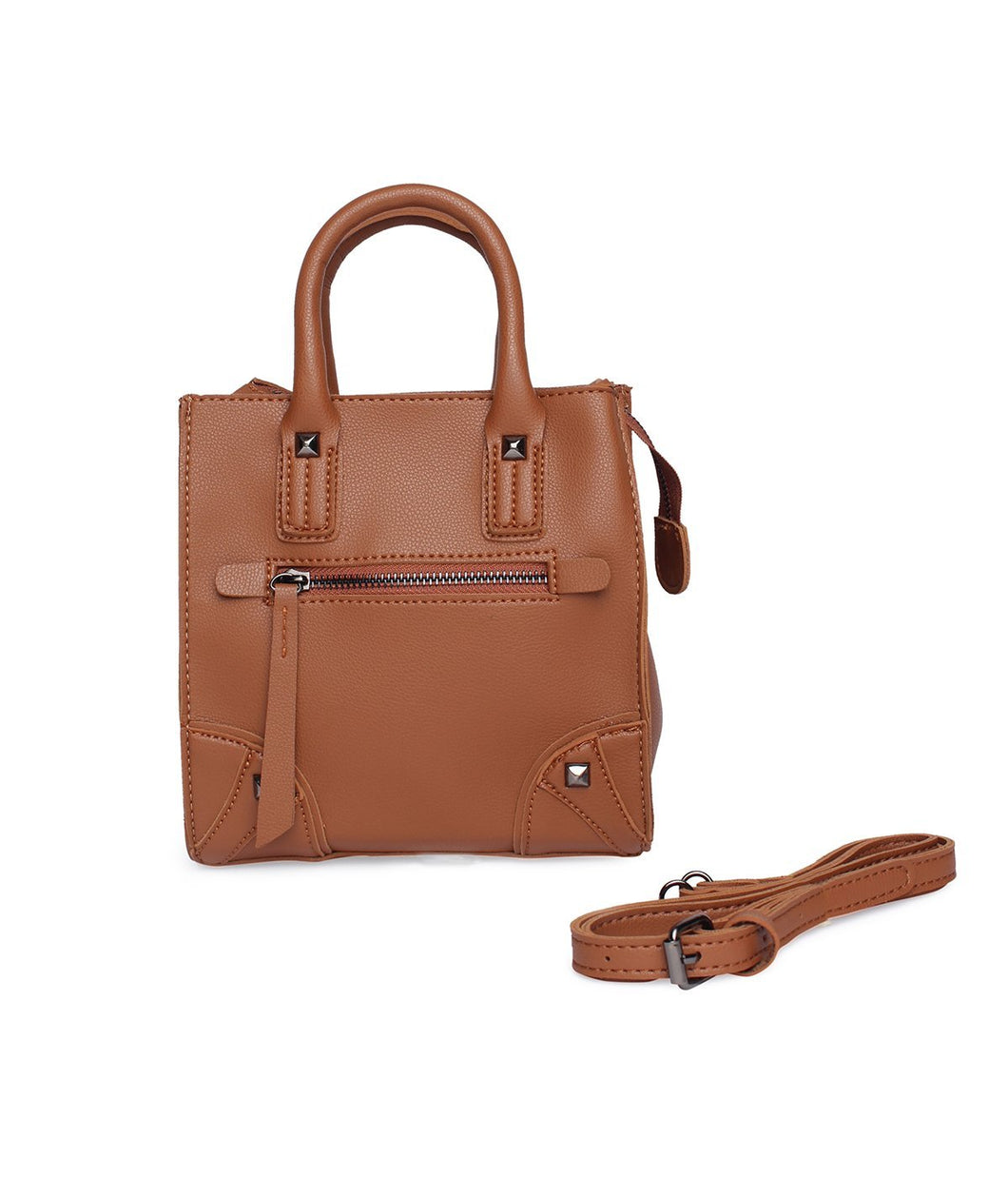 Carry Me Fancy Handbag-Brown