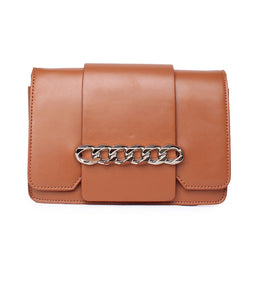 Chain Detail Clutch-Brown