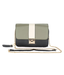 Three-toned Chic Sling-Olive