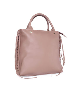 Roomy Structured Handbag-Pink