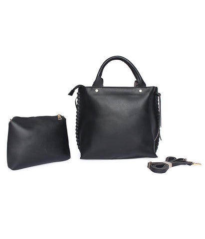 Roomy Structured Handbag-Black