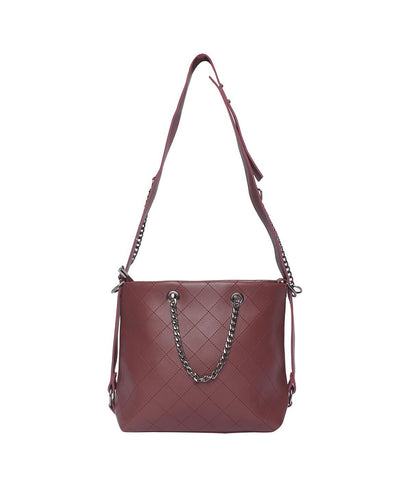 The Hot Handbag-Maroon