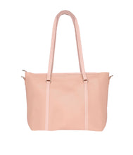 Load image into Gallery viewer, Structured Neutral Tote-Pink