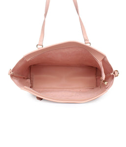 Structured Neutral Tote-Pink