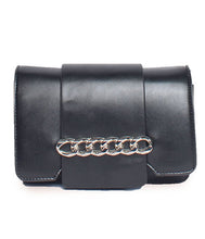 Load image into Gallery viewer, Chain Detail Clutch-Black
