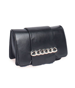 Chain Detail Clutch-Black