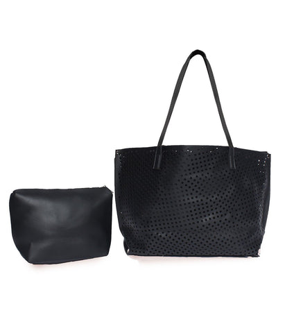 The Ultimate Cutwork Handbag-Black
