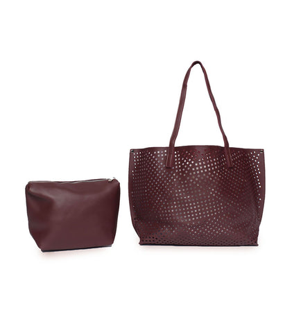 The Ultimate Cutwork Handbag-Maroon