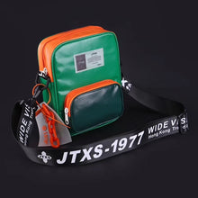 Load image into Gallery viewer, GREEN AND ORANGE TRENDY SLING BAG