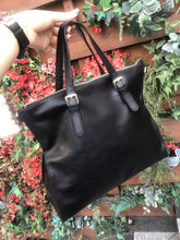 Load image into Gallery viewer, BLACK FORMAL TOTE CUM LAPTOP BAG