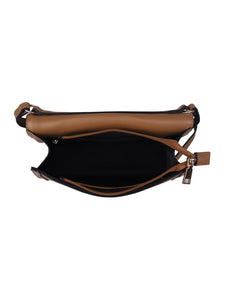 Pied Piping Sling Bag-Brown