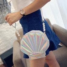 Load image into Gallery viewer, MOTHER OF PEARL (SHELL ) SHAPE FUNKY SLING BAG