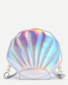 MOTHER OF PEARL (SHELL ) SHAPE FUNKY SLING BAG
